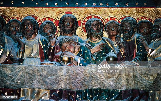 The Last Supper basrelief of the choir with Stories from the Life of Christ by Jean Ravy NotreDame Cathedral Paris IledeFrance France
