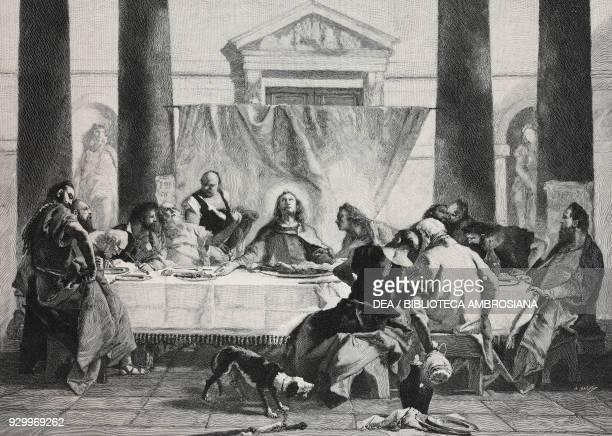 The Last Supper by Giambattista Tiepolo Louvre Museum Paris France from L'Illustrazione Italiana Year XXV No 14 April 3 1898