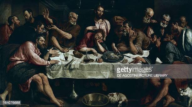 The Last Supper by Jacopo Bassano oil on canvas 168x270 cm Rome Galleria Borghese