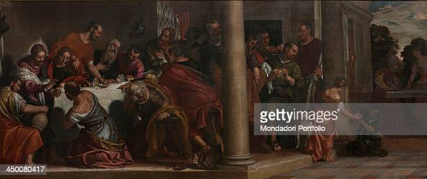The Last Supper by Paolo Caliari known as Paolo Veronese 16th Century oil on canvas 220 x 523 cm