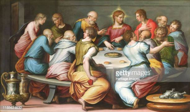 The Last Supper, circa 1540. Found in the Collection of Musée des beaux-arts, Troyes. Artist Vasari, Giorgio .