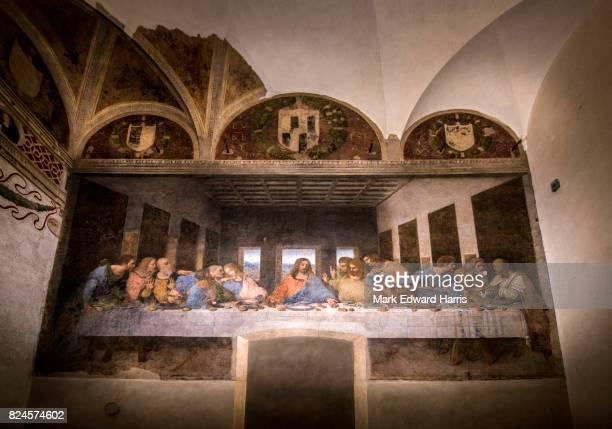 the last supper, milan, italy - leonardo da vinci fotografías e imágenes de stock