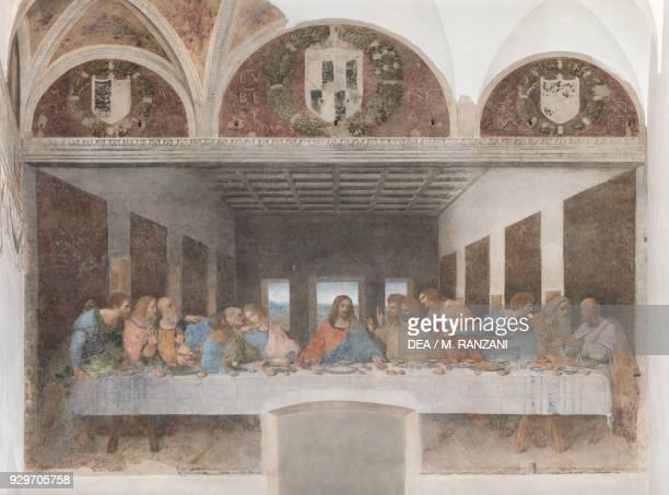 The Last Supper or Cenacolo 14951497 by Leonardo da Vinci after its restoration completed in 1999 tempera and oil on plaster 460x880 cm Cenacolo...