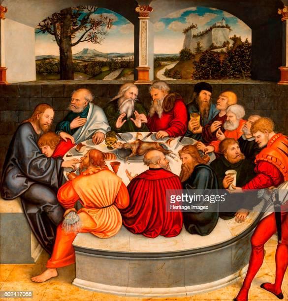 The Last Supper Reformation altarpiece 15391543 Found in the collection of Pfarrkirche St Marien zu Wittenberg