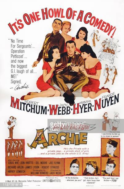 The Last Time I Saw Archie poster top clockwise Jack Webb Martha Hyer Elaine Devry France Nuyen Robert Mitchum Theona Bryant bottom Don Knotts Louis...