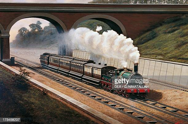 The last train journey on the tracks to standard gauge May 1892 painting United Kingdom 19th century