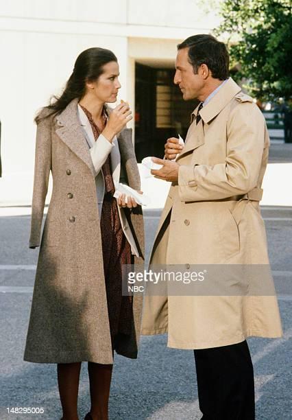BLUES The Last White Man on East Ferry Avenue Episode 203 Pictured Veronica Hamel as Joyce Davenport Daniel J Travanti as Captain Frank Furillo