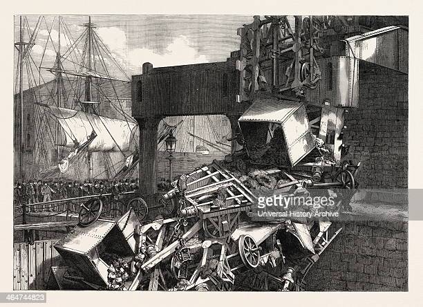 The Late Catastrophe On The Vale Of Neath Railway At Swansea UK 1865