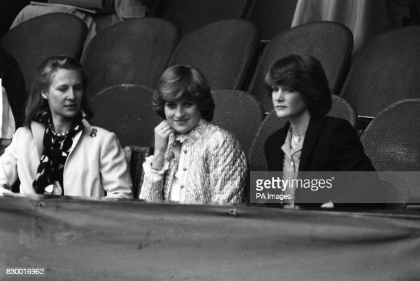 the late Diana Princess of Wales and her sister Sarah at Wimbledon to watch tennis Sarah told a jury at the Old Bailey in London that she had offered...