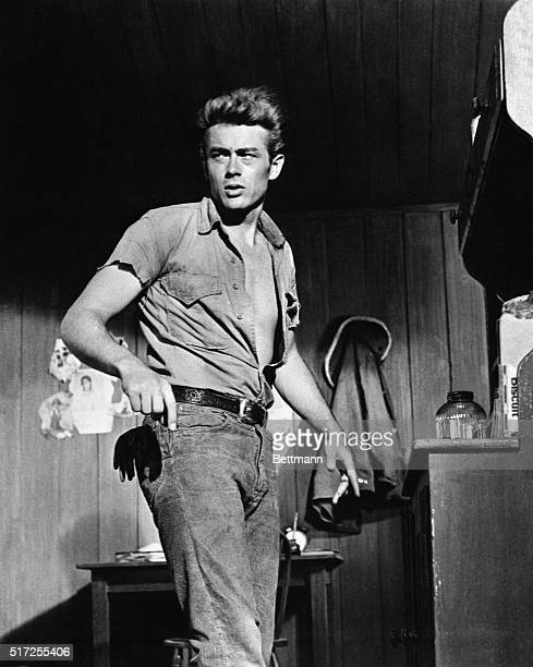 The late film star James Dean looked like this when making the movie Giant his third and last film He died in an auto crash at the age of 25 in 1955...