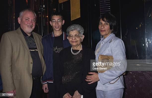 The late Freddie Mercury's partner Jim Hutton, nephew, mother Jer Bulsara and sister Kashmira Cooke attend the Opening Night Afterparty for the new...