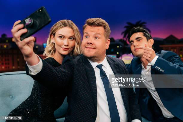 The Late Late Show with James Corden airing Monday April 15 with guests Karlie Kloss Max Minghella and music from Sean Paul and J Balvin