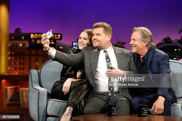 The Late Late Show with James Corden airing Monday April 23 with guests Evan Rachel Wood and Don Johnson