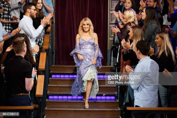 The Late Late Show with James Corden airing Monday April 30 with guests Benedict Cumberbatch and Kylie Minogue Pictured Kylie Minogue