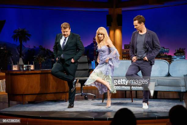 The Late Late Show with James Corden airing Monday April 30 with guests Benedict Cumberbatch and Kylie Minogue