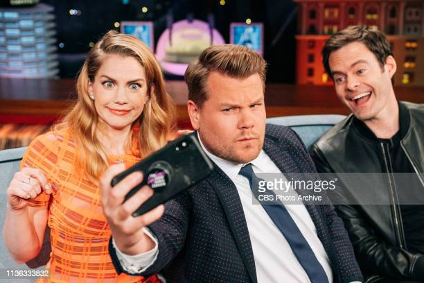 The Late Late Show with James Corden airing Monday April 8 with guests Anna Chlumsky Bill Hader with music from Ally Brooke featuring Tyga