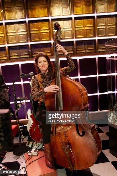 The Late Late Show with James Corden airing Monday February 24 with guests Christina Hendricks Logan Lerman and music from Yola Pictured with Hagar...