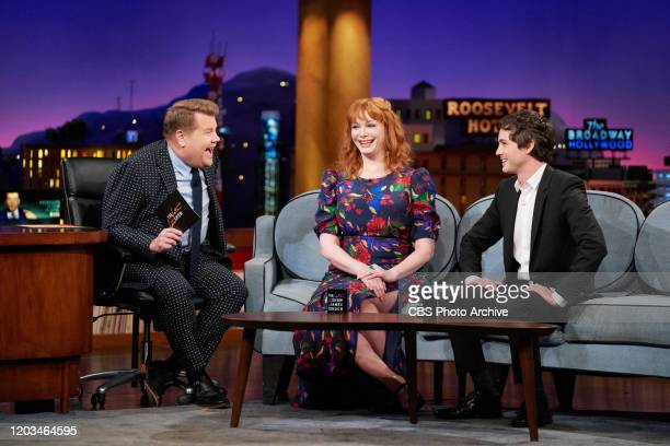 The Late Late Show with James Corden airing Monday February 24 with guests Christina Hendricks Logan Lerman and music from Yola