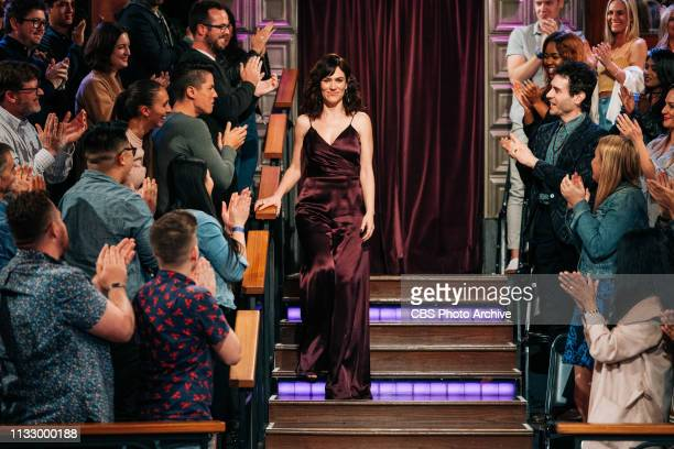 The Late Late Show with James Corden airing Monday March 25 with guests Maggie Siff and Max Greenfield