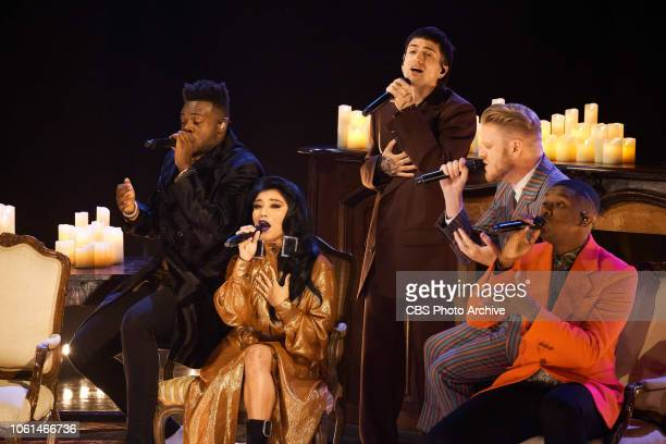 The Late Late Show with James Corden airing Monday November 12 with guests Octavia Spencer Jesse Williams and musical guest Pentatonix
