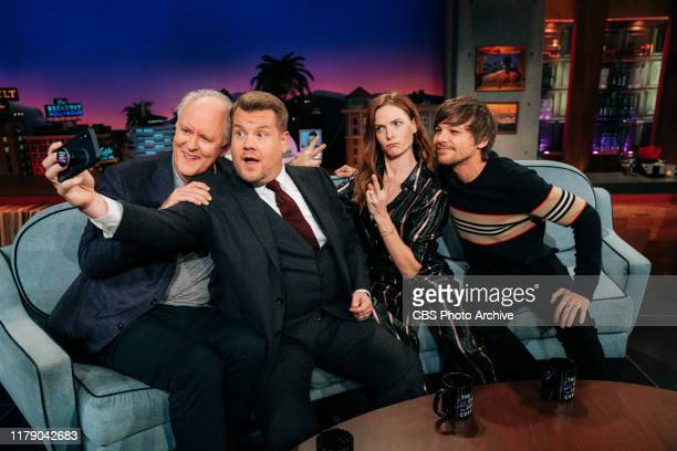 The Late Late Show with James Corden airing Monday, October 28 with guests John Lithgow, Rebecca Ferguson, and Louis Tomlinson.