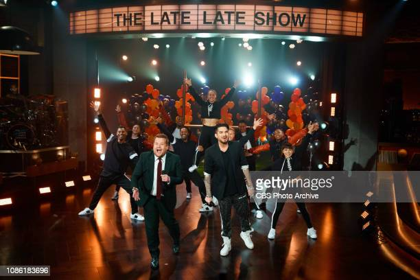 The Late Late Show with James Corden airing Sunday January 20 with guests Adam Lambert