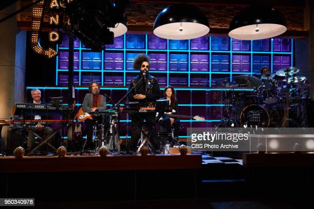 The Late Late Show with James Corden airing Thursday April 19 with guests Busy Philipps Emily VanCamp Eugenio Derbez and Bishop Briggs Pictured Steve...