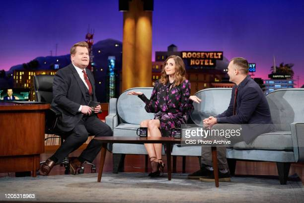 The Late Late Show with James Corden airing Thursday February 27 with guests Alison Brie Will Forte and standup comic Doug Smith