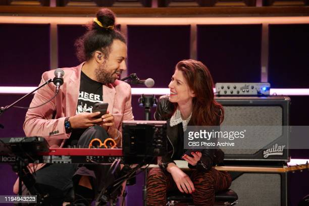 The Late Late Show with James Corden airing Thursday January 16 with guests Bradley Whitford and Brett Gelman Pictured with Reggie Watts Hagar Ben Ari