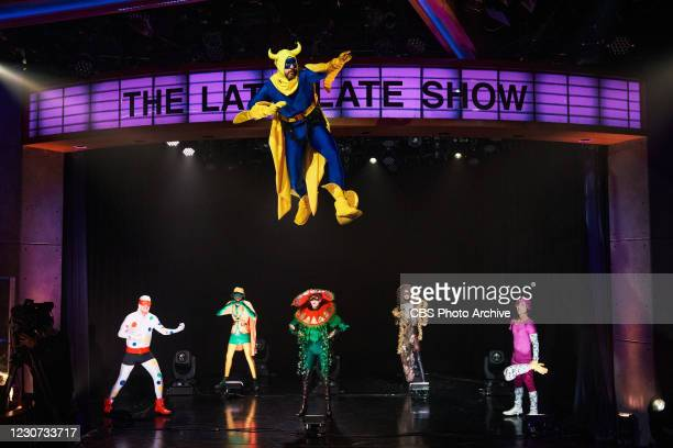 The Late Late Show with James Corden airing Thursday, January 21 with guests Regina King and Amanda Gorman. Pictured with: Louis Waymouth, James...
