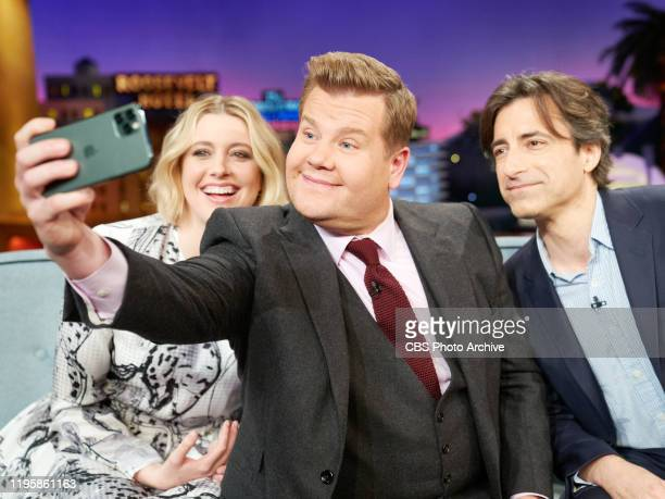 The Late Late Show with James Corden airing Thursday January 23 with guests Greta Gerwig Noah Baumbach and standup comic Demetri Martin