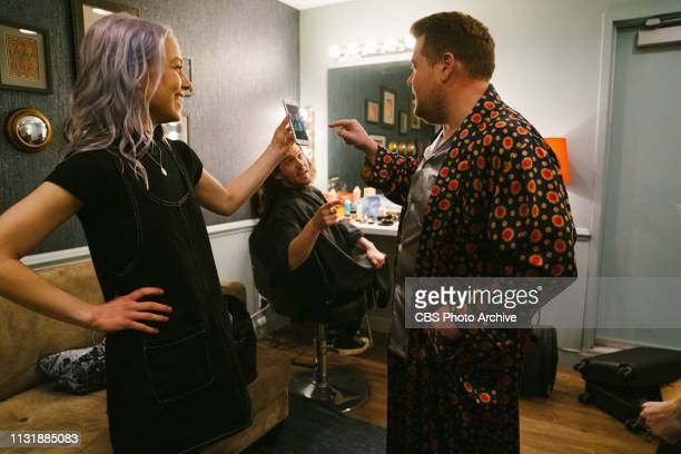 The Late Late Show with James Corden airing Thursday March 14 with guests Kate Beckinsale Milo Ventimiglia and music from Better Oblivion Community...