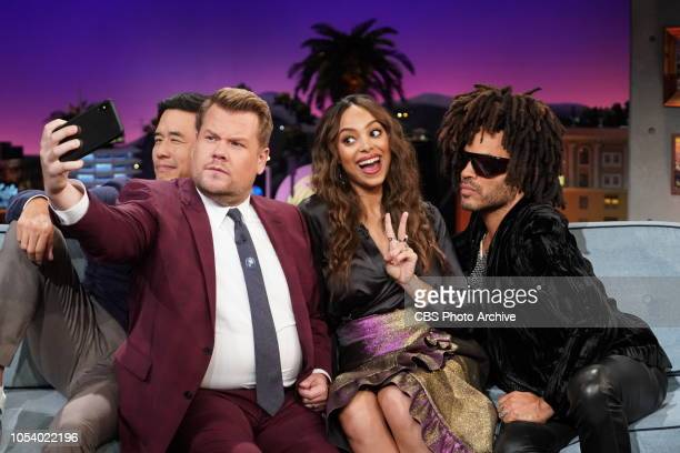 The Late Late Show with James Corden airing Thursday October 25 with guests Lenny Kravitz Amber Stevens West and Randall Park