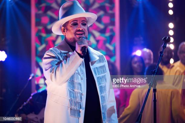 The Late Late Show with James Corden airing Thursday October 4 with guests Beth Behrs Taran Killam and musical guests Boy George and Culture Club
