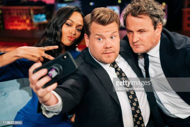 The Late Late Show with James Corden airing Tuesday, April 9 with guests Zoe Saldana, Jason Clarke, and standup from Kenny DeForest.