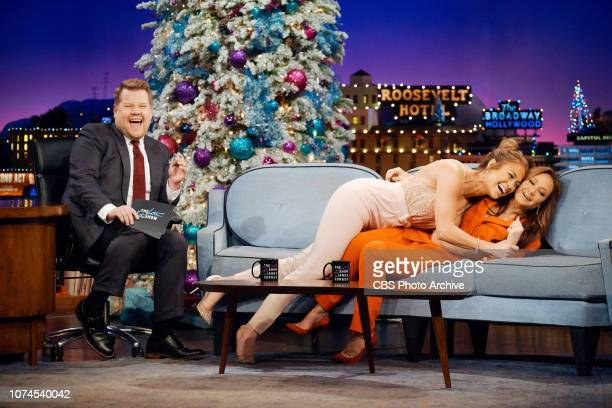 The Late Late Show with James Corden airing Tuesday, December 18 with guests Jennifer Lopez, Leah Remini, and musical guests Black Eyed Peas.