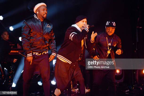 The Late Late Show with James Corden airing Tuesday December 18 with guests Jennifer Lopez Leah Remini and musical guests Black Eyed Peas