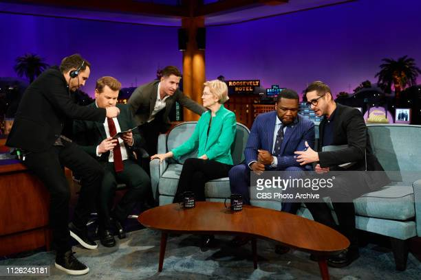 The Late Late Show with James Corden airing Tuesday February 19 with guests Senator Elizabeth Warren Curtis '50 Cent' Jackson TNT Boys with special...