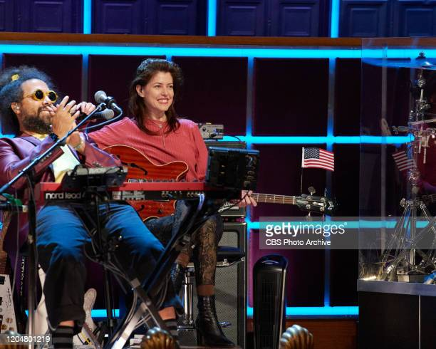 The Late Late Show with James Corden airing Tuesday February 25 with guests Mo Rocca and Adam Pally Pictured with Hagar Ben Ari