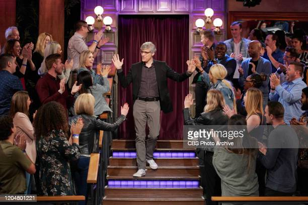 The Late Late Show with James Corden airing Tuesday February 25 with guests Mo Rocca and Adam Pally