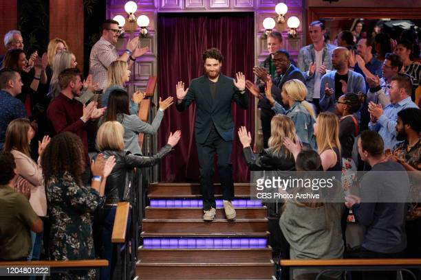 The Late Late Show with James Corden airing Tuesday, February 25 with guests Mo Rocca and Adam Pally.