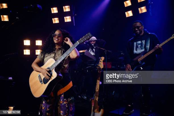 The Late Late Show with James Corden airing Tuesday January 8 with guests Ken Jeong Brian Tyree Henry and musical guest HER