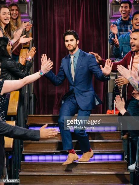The Late Late Show with James Corden airing Tuesday March 21 with guests Allison Williams Darren Criss and The Band Perry Pictured Darren Criss