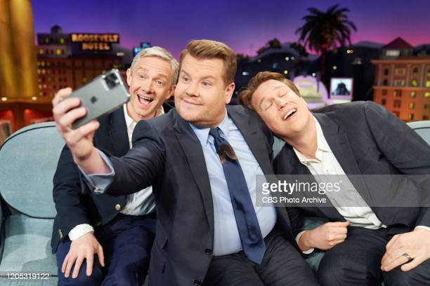 The Late Late Show with James Corden airing Tuesday, March 3 with guests Martin Freeman, Pete Holmes, and music from Bad Bunny.