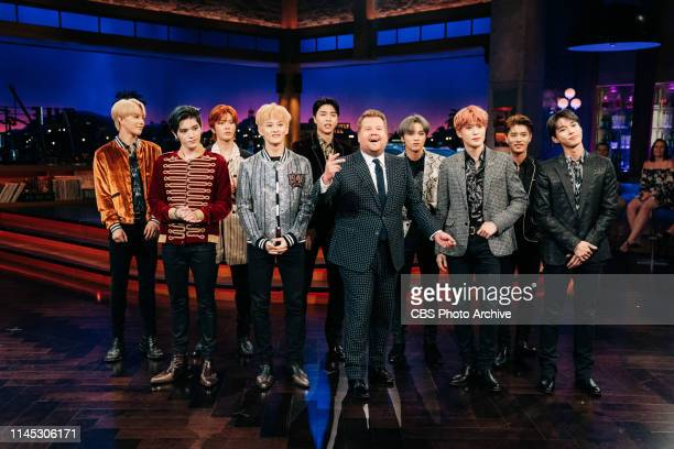 The Late Late Show with James Corden airing Tuesday May 14 with guests Lily Collins Charles Melton and music from NCT 127