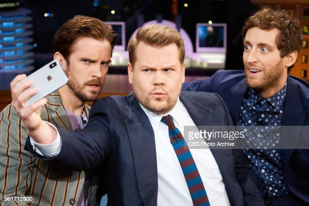 The Late Late Show with James Corden airing Tuesday May 22 with guests Dan Stevens and Thomas Middleditch