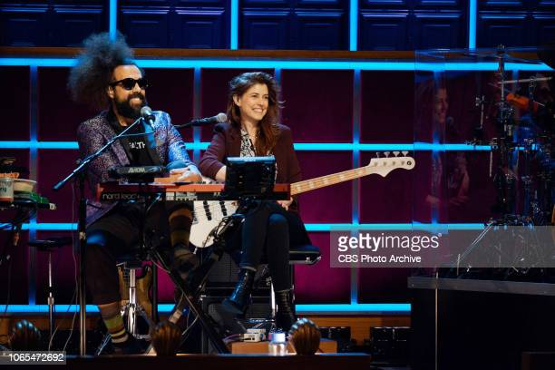 The Late Late Show with James Corden airing Tuesday November 20 with guests Linda Cardellini and Michael B Jordan Pictured Reggie Watts Hagar Ben Ari