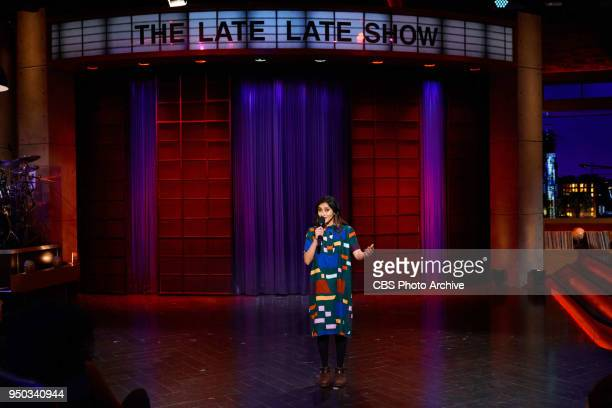 The Late Late Show with James Corden airing Wednesday April 18 with standup comic Aparna Nancherla