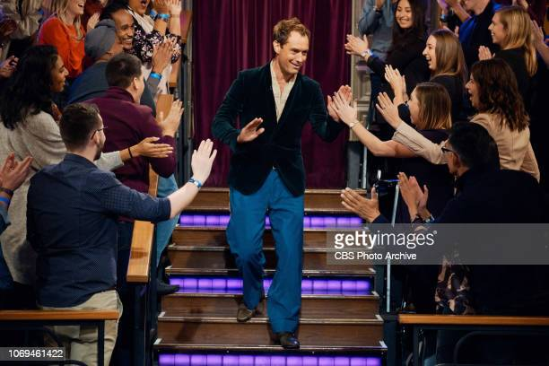 The Late Late Show with James Corden airing Wednesday December 5 with guests Jude Law Steve Coogan and standup comic Sam Morril Pictured Jude Law