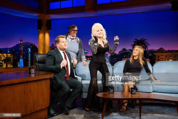 The Late Late Show with James Corden airing Wednesday December 5 with guests Dolly Parton Jennifer Aniston and musical guest Leon Bridges